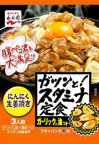 永谷園 ガツンと! スタミナ定食 にんにく生姜焼き 3人前×5個