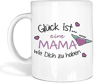 True Statements True Statements Mama Tasse Glück Ist Eine Mama Wie Dich Zu Haben - Schönes Geschenk für Mama zum Muttertag, Weihnachten oder Geburtstag, Farbe Weiss