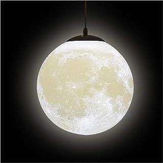 3D Impresión Luna Luces Colgantes Lámpara de Techo - Universo Planeta de Noche Creativo Linterna Restaurante Bar Casa Niños Habitación LED Iluminación Colgante(Bombilla no Está Incluida)