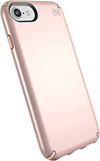 Speck Products Presidio Metallic Case for iPhone 8 (Also Fits 7/6S/6), Rose Gold Metallic/Dahlia Peach