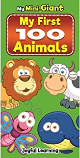 My Mini-Giant Animals Board Book With Hard Cover Montessori Learning (My First 100 Animals including Farm,Wild,Sea Animals...
