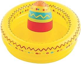 Fun Express Fiesta Inflatable Sombrero Cooler - Cinko De Mayo Party Supplies