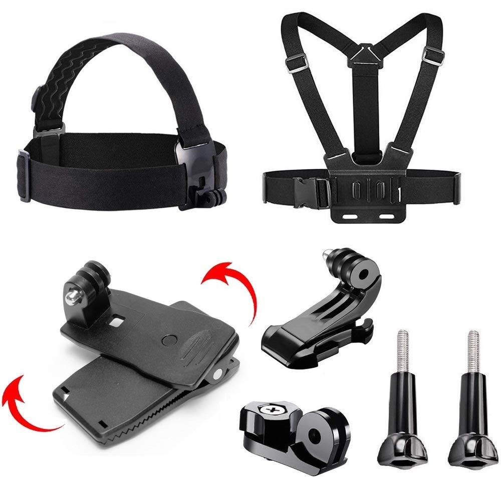 Navitech Action Camera Backpack /& 18-in-1 Accessory Combo Kit with Integrated Chest Strap Compatible with The Rollei Actioncam 300 415 /& 425 330