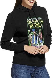 Municipal Waste Women Long Sleeve Classic Hooded Sweatshirt with Drawstring Black