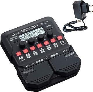 Zoom G1 FOUR - Aparato de efectos para guitarra y fuente de alimentación Keepdrum (9 V)