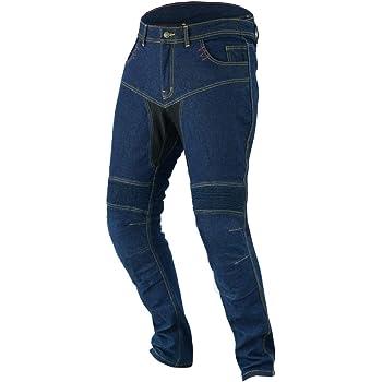 , Blu 54 Regolare//Vita 38 Lunghezza 32 2XL JET Pantaloni Moto Uomo Jeans Kevlar Aramid Con larmatura TECH PRO