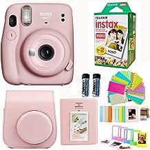 Fujifilm Instax Mini 11 Blush Pink Camera with Fuji Instant Film Twin Pack + Pink Case, Album, Stickers, and More Accessor...