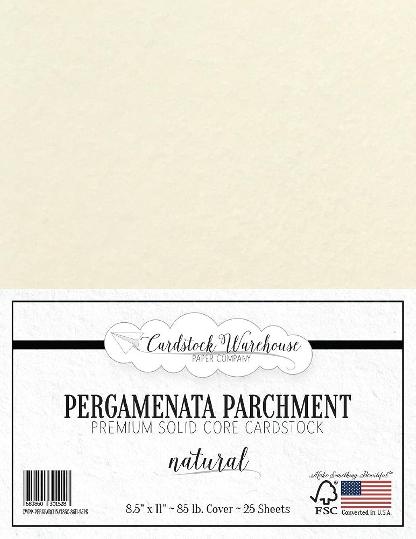PARCHMENT PAPER - PERGAMENATA NATURAL Cardstock 8.5