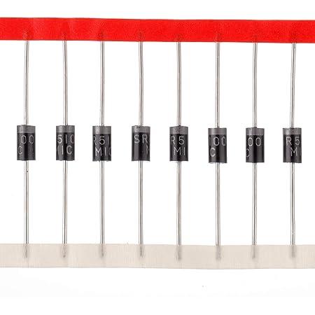 HUAREW 12 valori 300 pezzi Diodi raddrizzatori 1N4001 1N4002 1N4004 1N4005 1N4007 1N5404 1N5406 1N5408 Diodi Schottky 1N5817 1N5818 1N5819 Diodi di commutazione 1N4148 Kit di classificazione