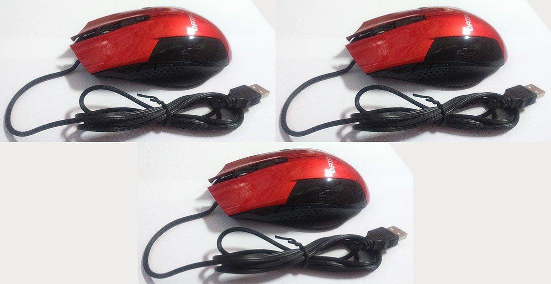 DATALVS Pack 3 Unidades Ratón Gamer USB Rojo: Amazon.es: Electrónica