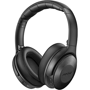 Mpow H17 Active Noise Cancelling Headphones, Bluetooth Headphones Over Ear with Quick Charge 45H Playtime, Genuine Protein Earpads, CVC 6.0 Mic, Wireless/Wired for Travel, Online Class, Home Office
