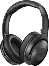 Mpow Active Noise Cancelling Headphones, [2019 Upgraded] H17 Bluetooth Headphones Over Ear with Quick Charge, Soft Genuine Protein Earpads, Hi-Fi Deep Bass, CVC 6.0 Mic, 30H Playtime for TV/Travel
