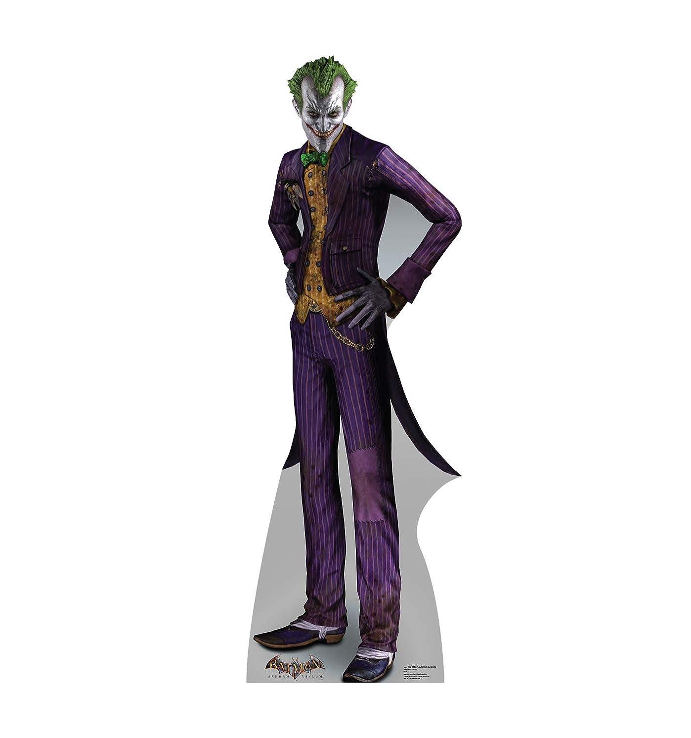 Advanced Graphics The Joker Life Size Cardboard Cutout Standup - Batman: Arkham Asylum