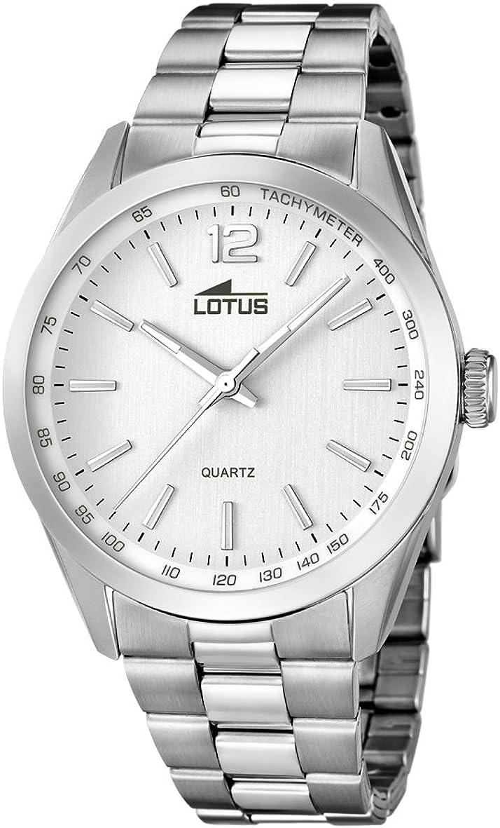 Lotus Reloj Analógico para Hombre de Cuarzo con Correa en Acero Inoxidable 18146_1