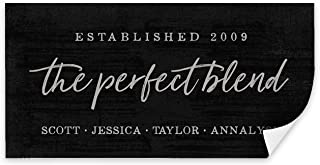 Pretty Perfect Studio The Perfect Blend Custom Sign, Personalized Family Last Name | Wedding for Newlyweds | 10x20 Unframed Canvas Wall Art Poster
