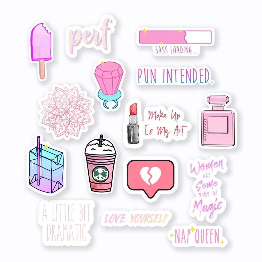 Amazon Com Pink Sticker Mega Pack 3 Vinyl Stickers 15pcs Handmade Products
