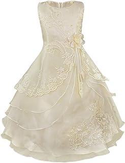 f1fdebb7344c4 YiZYiF Enfant Fille Robe de Cérémonie Longue Robe de Mariage Robe  Demoiselle d'honneur Robe