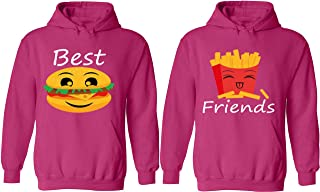 Burger and French Fries- Matching Couple Hoodies - Best Friend Forever Sweaters