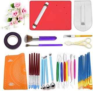 AK ART KITCHENWARE Gumpaste Flower Tools 1 Foam Pad 8 Modelling Tools 12 Pastry Brushes 1 Rolling Pin 1 Carving Knife 1 Measure Dough mat 1 Cake Smoother 4 Ball Tools 5 Sculpture Tools 1 Floral Tape