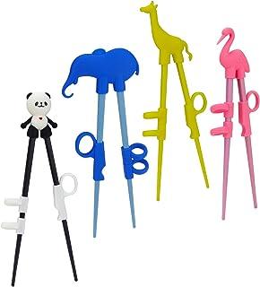 Plum Garden 4 pcs learning chopstick helper, Children's Training Chopsticks, Animals Chopsticks for childrens beginners