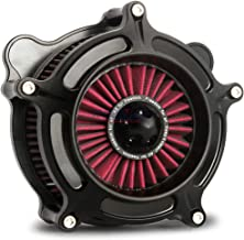 Black ops spike turbine air cleaner intake for harley street glide touring 2000-2007, softail dyna 93-15 red filter