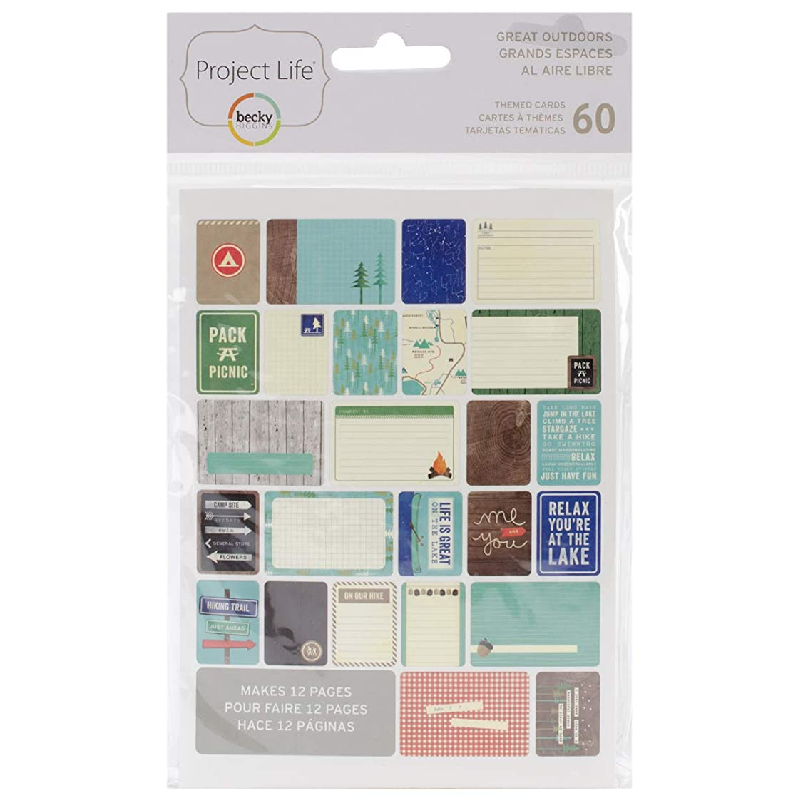American Crafts 380228 Project Life Themed Cards 60/Pkg- Outdoors