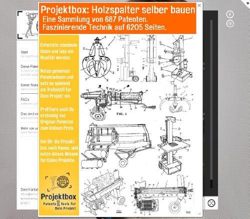 Holzspalter selber bauen: Deine Projektbox inkl. 687 Original-Patenten bringt Dich mit Spaß ans Ziel!