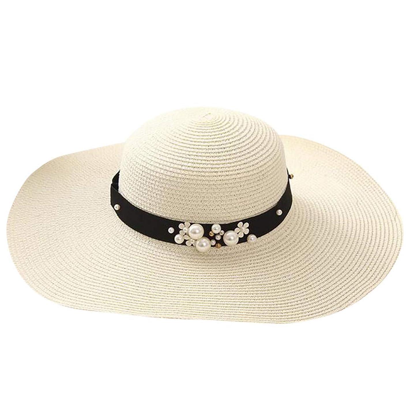 低い入場慎重に漁師の帽子 ROSE ROMAN UVカット 帽子 帽子 レディース 麦わら帽子 UV帽子 紫外線対策 通気性 取り外すあご紐 サイズ調節可 つば広 おしゃれ 可愛い ハット 旅行用 日よけ 夏季 女優帽 小顔効果抜群