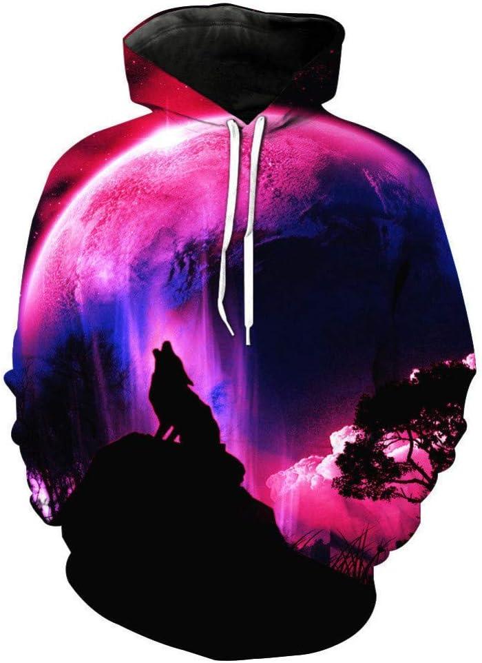 LUO New Night Sky Sweatshirt Hommes/Femmes Sport Imprimé Chemise Galaxy À Capuche À Capuche De Mode Slim,* L M
