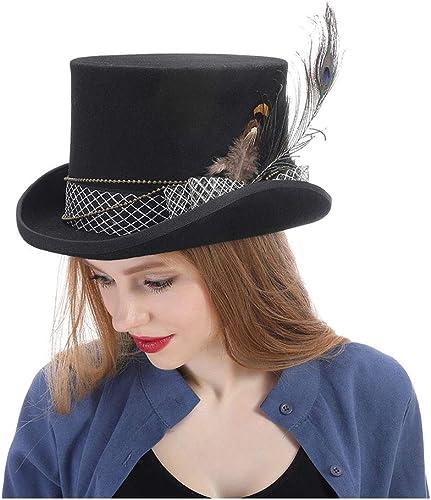 precios mas baratos YQXR Moda Moda Moda Sombreros Fedora File Fedora Hat Steampunk Sombrero SteamPunk Gear Sombrero Fedora Hat (Color   negro, Talla   57cm)  mejor marca