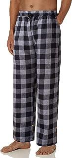 siliteelon Men's Flannel Plaid Pyjama Pants, Sleepwear Lounge Pant with Pockets