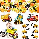 Globos para Camiones,Camiones volquete de Decoraciones para Fiestas,Suministros para Fiestas de Construccin,Decoracin de la Fiesta de cumpleaos de construccin (C)
