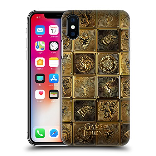 Head Case Designs Officially Licensed HBO Game of Thrones All Houses Golden Sigils Hard Back Case Compatible with Apple iPhone X/iPhone Xs
