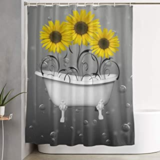 "60//72/"" Make Yourself a Priority Black and Gold Shower Curtain Set Bathmat Hooks"