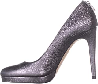 Michael Kors Womens Antoinette Leather Closed Toe Classic Pumps