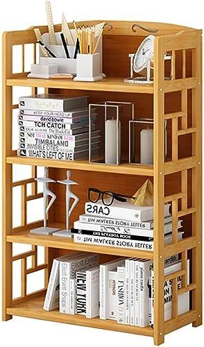 comprar ahora Wghz estantería estantería estantería estantería, estantería de 4 Pisos para Estudio de Muebles de Estudio (Nanzhu + MDF) 50  25  110CM   70  25  110CM   80  25  110CM (Tamaño  4-70  25  110CM)  solo cómpralo