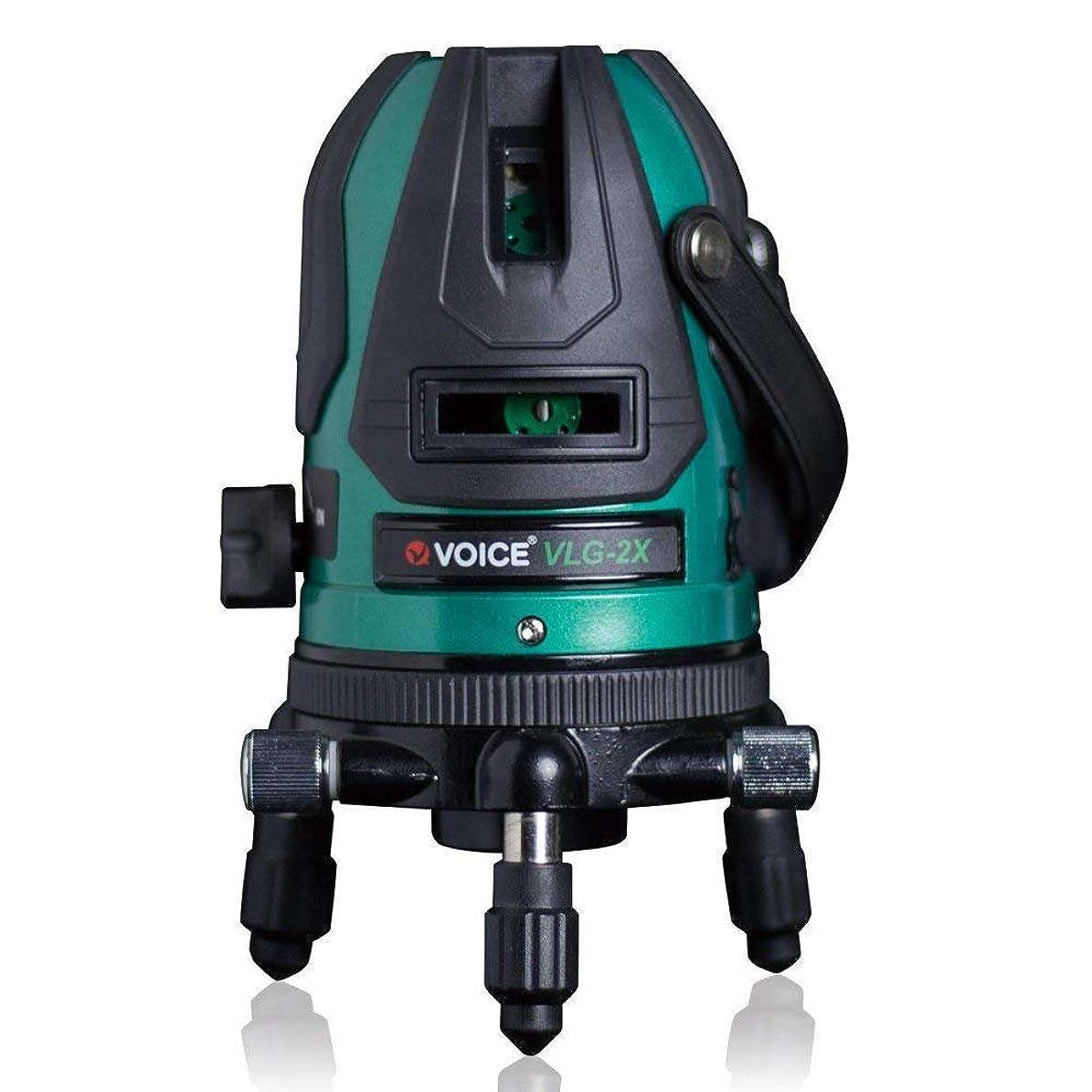 庭園今後バリーVOICE 2ライン グリーンレーザー墨出し器 VLG-2X メーカー1年保証 タテ?ヨコ ライン照射モデル【標準セット】