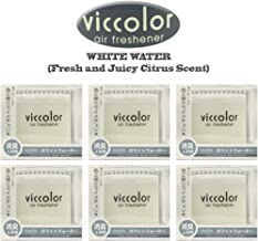 6-pack Viccolor White Water (Fresh and Juicy Citrus Scent) Luxury Air Freshener JDM Genuine Diax Japan for Home/office/Car/Auto/Rv