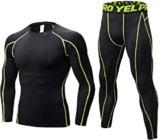 RkYAO Men Quick Dry Comfy Stretch Skinny Jammer Base Layer Activewear