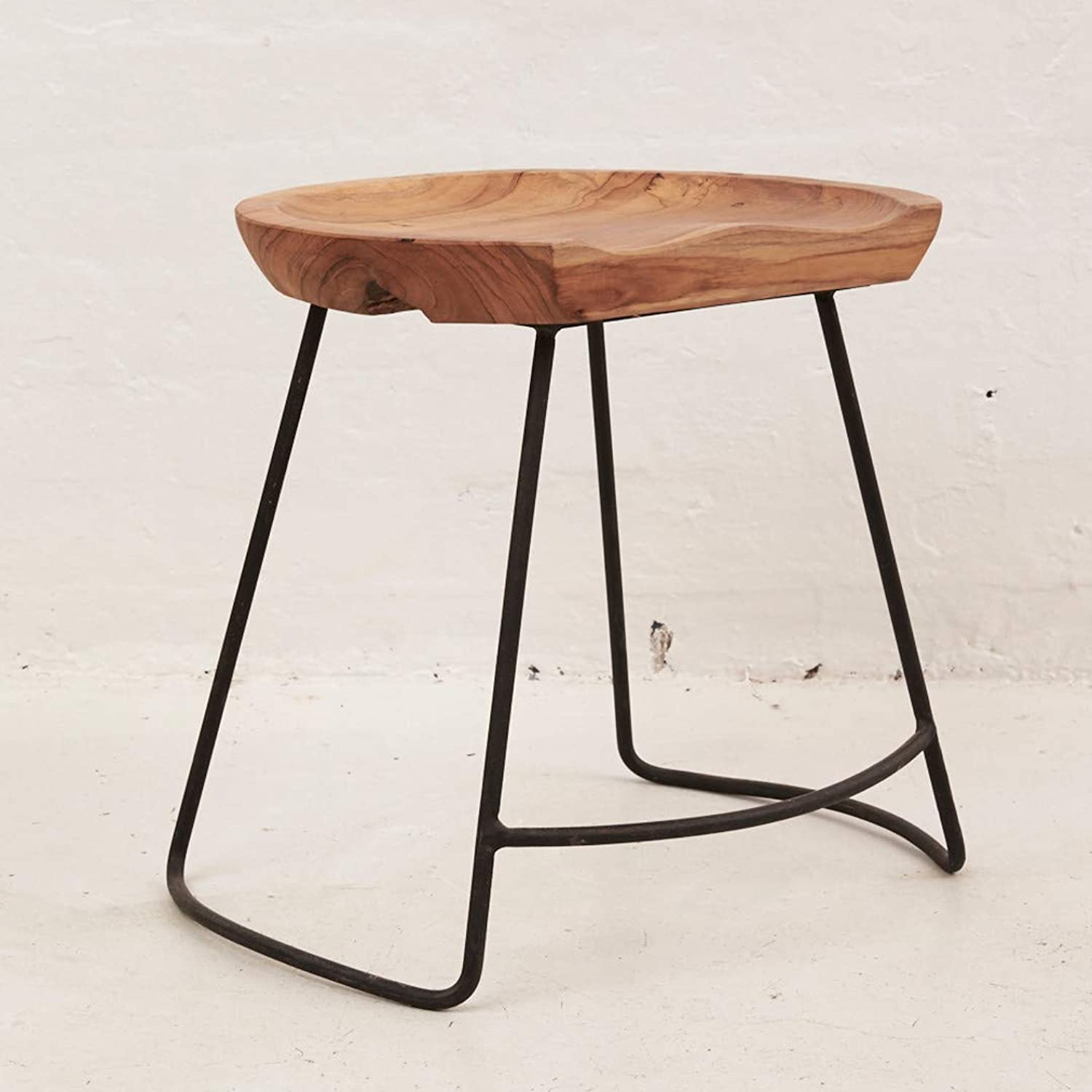 Demir Shaped Bar Stool with Iron Legs by Inartisan - Size  Tall