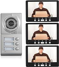 Videodeurbel, intercom, bekabeld deurinvoersysteem, 7 inch videodeurtelefoon voor huisbeveiliging, IR-nachtzichtcamera + 3...