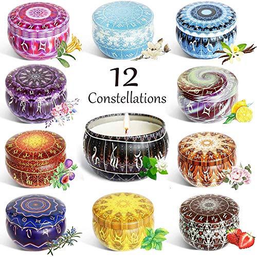 Velas Perfumadas,12 series de constelaciones 12 Pack Regalo