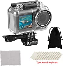 Artman Waterproof Housing Case for DJI Osmo Action Camera Diving Protective Case/Housing/Shell 200ft/61M with 12pcs Anti Fog Inserts and One Portable Pouch for Storage