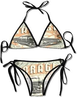 Women's Maternity V Insert Dresskini Top Personality Swimwear Bikini Set