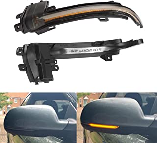 Piaobaige 2 Pcs Side Wing Mirror Indicator Dynamic Turn Signal Led Light For For Audi A4 B8.5 A5 B8.5 Rs3/4/5 S5 2010 2015...