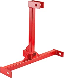 Mophorn 3 Point 2 Inch Trailer Hitch Heavy Duty Receiver Hitch Category 1 Tractor Attachments Tow Hitch Red (25
