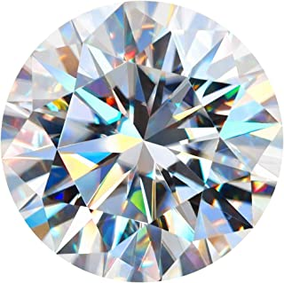 GIGAJEWE Moissanite Stone Synthetic Diamond Loose Stone Round Excellent Cut Gemstones Hardness Stone for White D colorless...