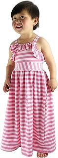Wennikids Beach Dress Maxi Dresses Girls Striped Long Summer Dress