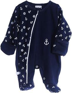 La Bortini Strampler Baby Schlafanzug mit Reißverschluss Overall 50-104 Anzug