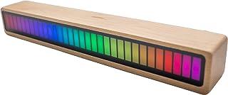 MOETATSU 音楽リズムライト 音感あり ミュージックを聞いて踊る Music RGB LED バーライト おしゃれ なインテリア、Bluetoothでワイヤレスコントロール、車載用、面白いグッズ、贈り物、プレゼント、ギフト、日本語取扱説明...